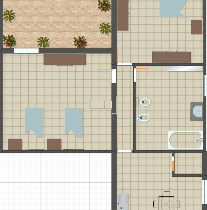 Abitazione indipendente con cortile in zona centrale for Casa con cortile centrale